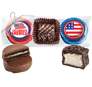 "Celebrate America ""Cookie Talk"" Chocolate Oreo & Marshmallow Trio"