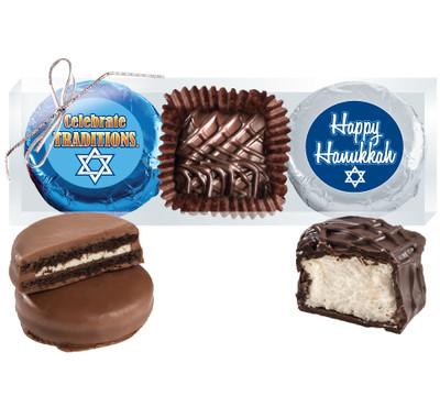 Hanukkah Cookie Talk Chocolate Oreo & Marshmallow Trio
