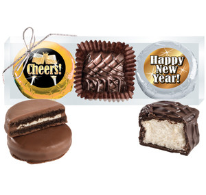 "Happy New Year  ""Cookie Talk"" Chocolate Oreo & Marshmallow Trio"