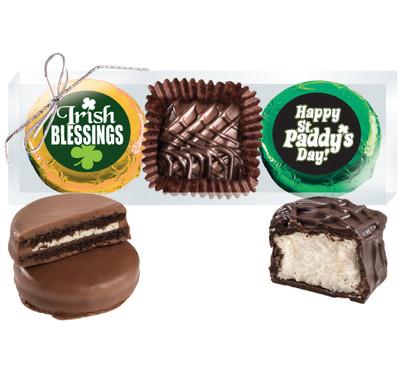 St Patrick's Day Cookie Talk Chocolate Oreo & Marshmallow Trio
