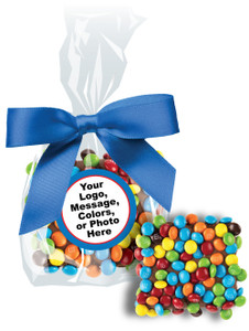 Custom Chocolate Graham Mini M&M Favor Bag