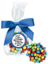 Chocolate Oreo with Mini M&Ms Favor Bag