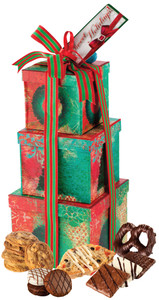 Christmas Large Gift Box Tower of Treats