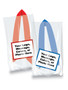 Favor Bags - Custom Label & Ribbon - Unfilled - Blue & Red