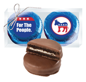 Democrat Cookie Talk Chocolate Oreo Duo - Blue