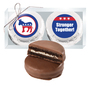 Democrat Cookie Talk Chocolate Oreo Duo - Silver