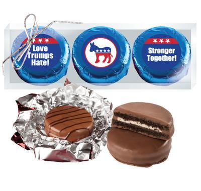 Democrat Cookie Talk Chocolate Oreo Trio - Blue