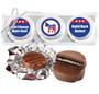Democrat Cookie Talk Chocolate Oreo Trio - Silver