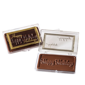 """HAPPY HOLIDAYS!"" Chocolate Gift Case"