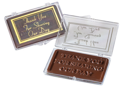 Thank You For Sharing Our Day Chocolate Case