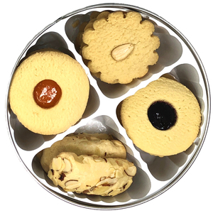 PREMIUM BUTTER COOKIE ASSORTMENT - LINZER, MARZIPAN, ALMOND