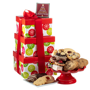 Christmas Large Tower of Treats - Christmas Tree Tag