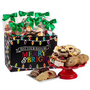 Holiday Lights Basket Box of Treats