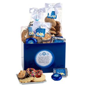 Hanukkah Basket Box of Cookie Treats