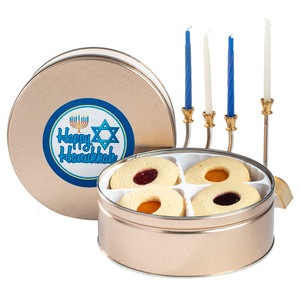Hanukkah Fruit-Filled Butter Cookie Tin