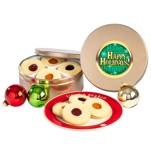 Happy Holiday Fruit-Filled Butter Cookies