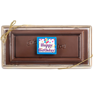 Happy Birthday Chocolate Candy Bar Boxed