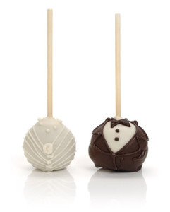 WEDDING  FAVORS BRIDE & GROOM  CAKE POPS - SPECIAL ORDER