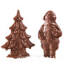Solid Chocolate Santa & Christmas Tree Duo
