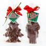Solid Chocolate Santa & Christmas Tree Duo - Wrapped
