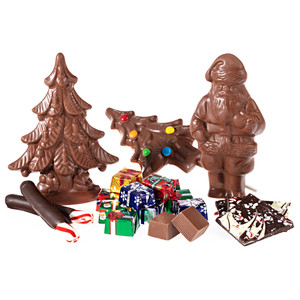 Christmas  5 Pc Novelty Chocolate Assortment