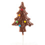 Solid Chocolate Christmas Tree Lollipop