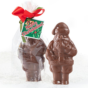 Mini Solid Chocolate Santa - Pack Of 6