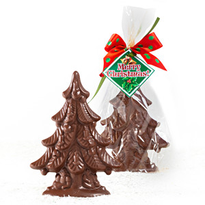 MINI SOLID CHOCOLATE CHRISTMAS TREE - PACK OF 6