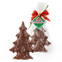 Mini Solid Chocolate Christmas Tree - wrapped set