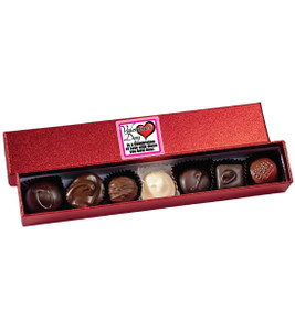 Valentine's Day Chocolate Candy Red Sparkle Box