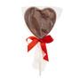 Chocolate Heart Lollipop Bag w/Ribbon