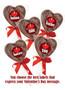 Solid Chocolate Heart Lollipop In Bag w/Ribbon