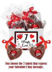 7 Ways Of Love Chocolate Hearts Gift Box