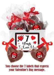 7 WAYS OF LOVE CHOCOLATE HEARTS GIFT BOX