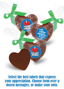 Business Themed Solid Chocolate Heart In Bag