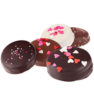 Valentines Day Decorated Chocolate Oreo Cookies