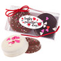 Happy Valentines Day Decorated Chocolate Oreo Duo - Oval Label