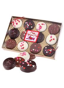 Valentines Day Chocolate Decorated Oreos 12 Pc Gift Box