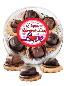 Valentine's Day Chocolate Candy Cookies - Love