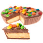 Pi Day Peanut Butter Mini Chocolate Candy Pie Slices