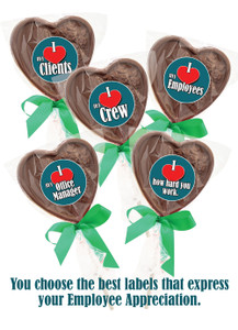 Employee Appreciation Solid Chocolate Lollipop Bag