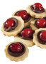 Chocolate Cherry Butter Cookies