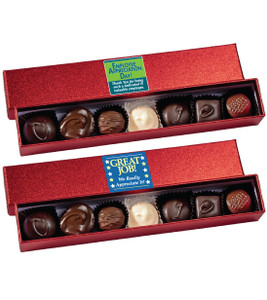EMPLOYEE APPRECIATION RED SPARKLE  CHOCOLATE CANDY BOX