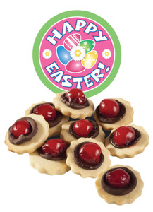 Easter Chocolate Cherry Butter Cookies