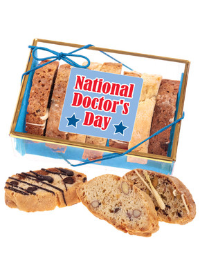 Doctor Appreciation Biscotti Sampler - Blue