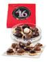 Sweet 16 Birthday Candy Cookies - Black & Pink