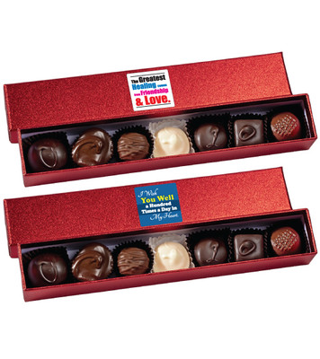 Get Well Chocolate Candy Sparkle Box