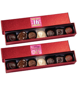 Sweet 16 Chocolate Candy Sparkle Box