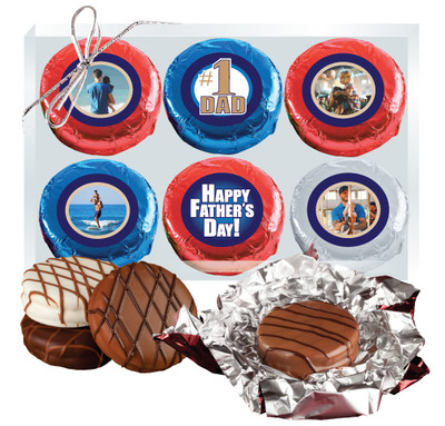 Father's Day 6pc Chocolate Oreo Photo Cookie Box