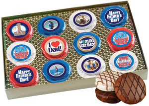 12 pc Fathers Day Chocolate Oreo Photo Cookie Box